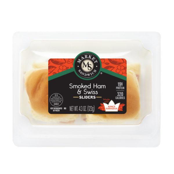 Market Sandwich King's Hawaiian Smoked Ham and Swiss Slider Package