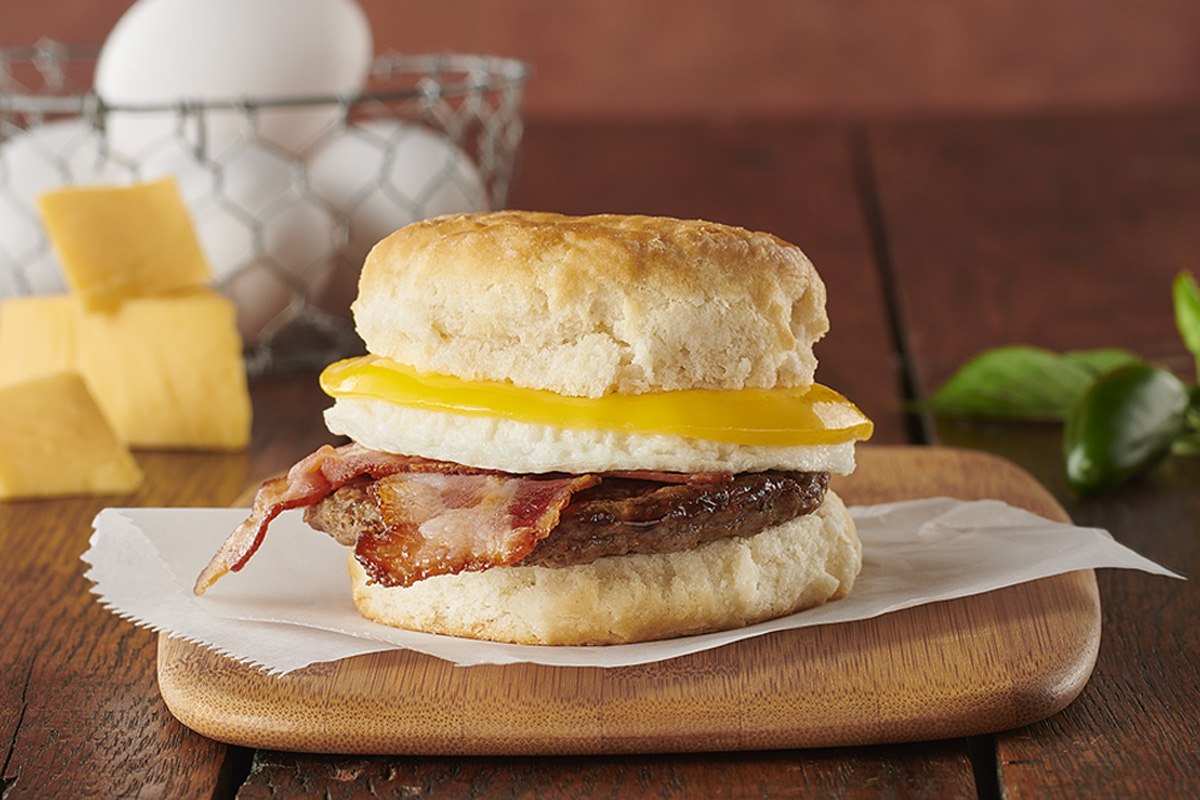Market Sandwich Hot-to-Go Sausage & Jalapeno Bacon with Egg & Cheese on a Biscuit Image