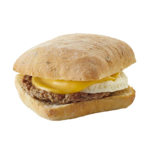 Market Sandwich Hot-to-Go Egg Turkey Sausage & Cheese on a Focaccia Roll Image