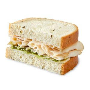 Market Artisan Pesto Chicken Sandwich Half Slice